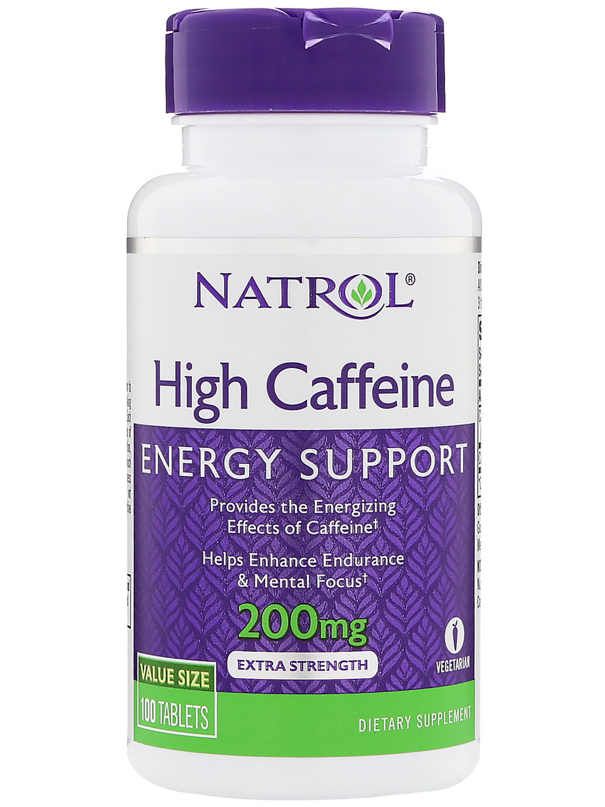 Natrol High Caffeine 200mg (100 табл)