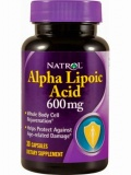 Natrol Alpha Lipoic Acid 600 mg (30 капс)