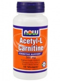 NOW Acetyl L-Carnitine 500mg (50 капс)