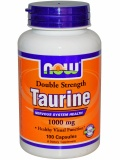 NOW Double Strenght Taurine 1000mg (100 капс)
